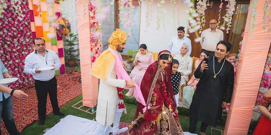 From behind the lens to being in focus: Vows & Tales photographer Abhit Jhanjhi shares his home wedding experience amidst social distancing