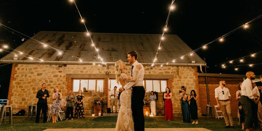 Bride and Groom Dancing to Wedding Songs