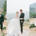Ashlee Jensen's Summer Wedding Featuring a 3-D Floral Lace Sheath Wedding Dress