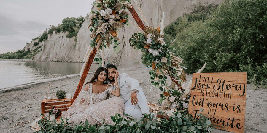 A South Asian Bohemian Affair // A COVID-19 wedding