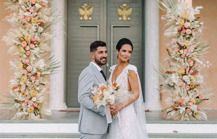 Sophia & George's Modern Mediterranean Wedding - Modern Wedding